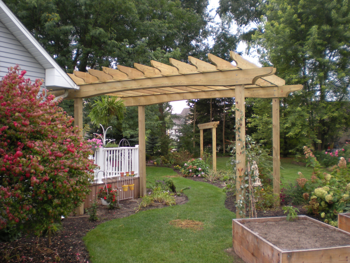 Pergola and Landscaped Walking Path