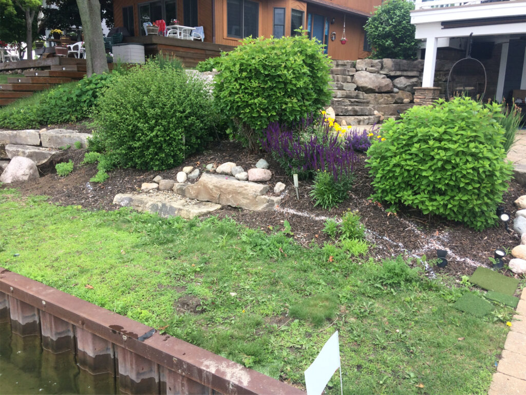 BEFORE - Lake Front Landscaping