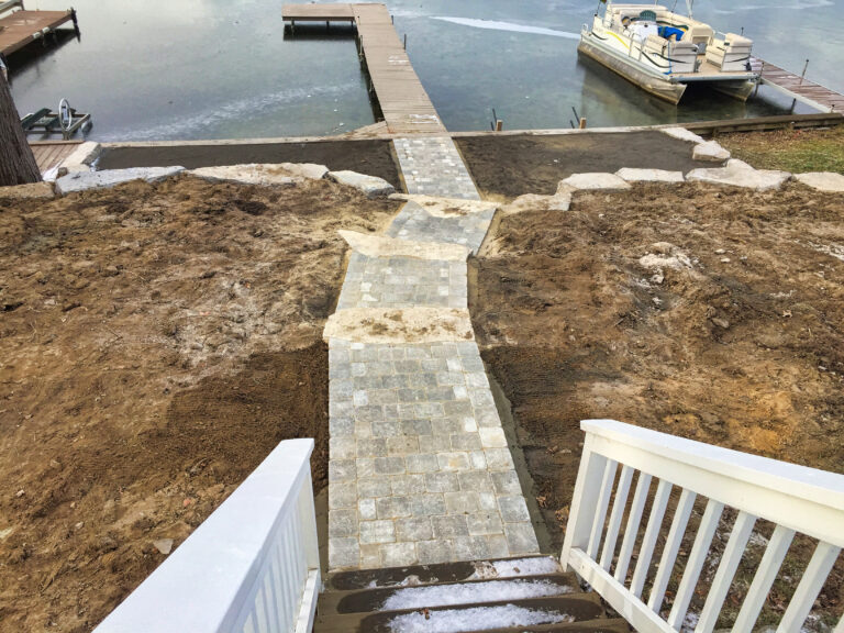 Lakefront_Paver_walk_and_stairs